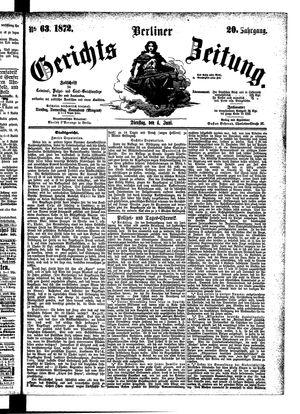 Berliner Gerichts-Zeitung vom 04.06.1872