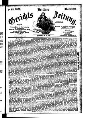 Berliner Gerichts-Zeitung vom 08.06.1872