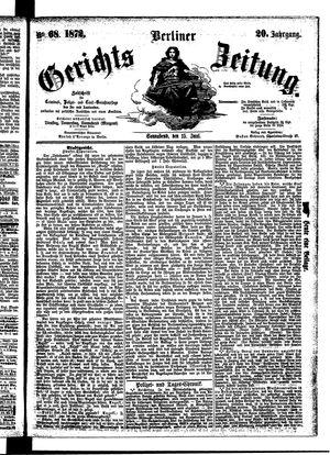 Berliner Gerichts-Zeitung vom 15.06.1872