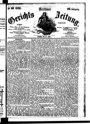 Berliner Gerichts-Zeitung vom 18.06.1872