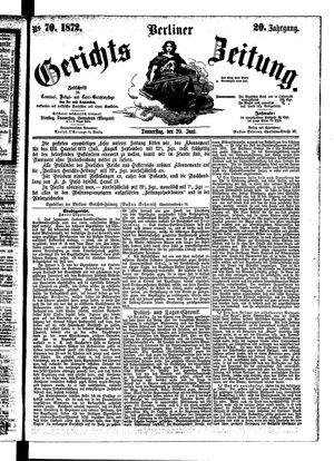 Berliner Gerichts-Zeitung on Jun 20, 1872