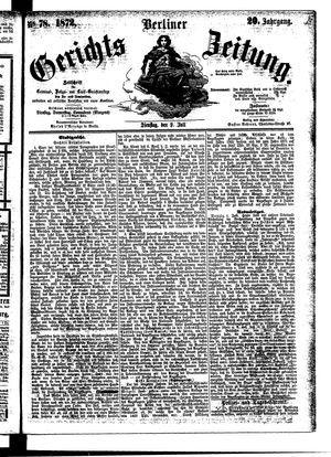 Berliner Gerichts-Zeitung vom 09.07.1872