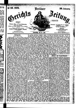 Berliner Gerichts-Zeitung vom 18.07.1872