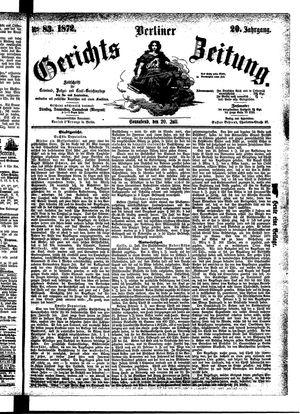 Berliner Gerichts-Zeitung vom 20.07.1872