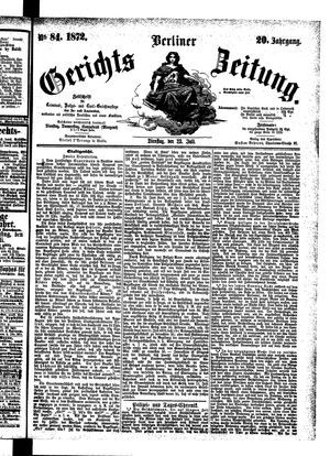 Berliner Gerichts-Zeitung vom 23.07.1872