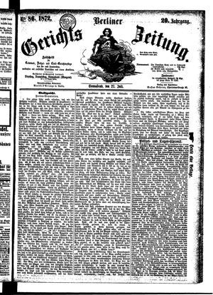 Berliner Gerichts-Zeitung on Jul 27, 1872