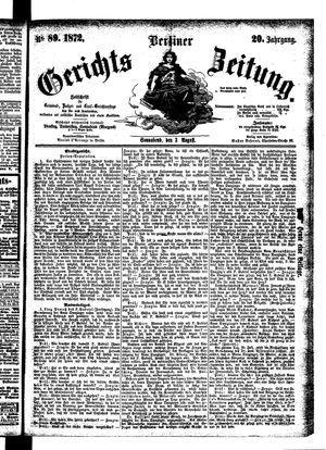 Berliner Gerichts-Zeitung vom 03.08.1872