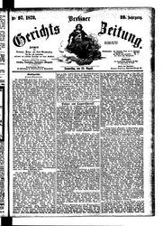 Berliner Gerichts-Zeitung (22.08.1872)
