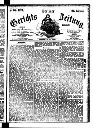Berliner Gerichts-Zeitung vom 24.08.1872