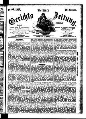 Berliner Gerichts-Zeitung vom 27.08.1872