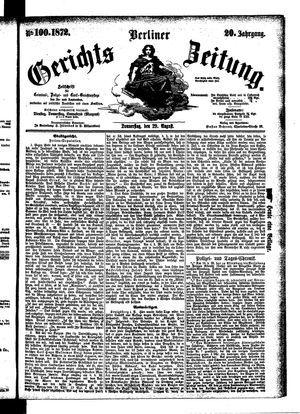 Berliner Gerichts-Zeitung vom 29.08.1872