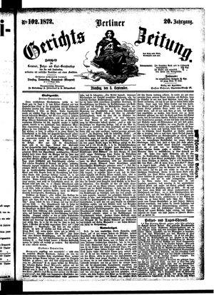 Berliner Gerichts-Zeitung vom 03.09.1872