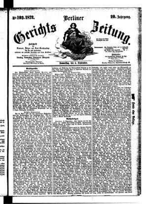 Berliner Gerichts-Zeitung on Sep 5, 1872