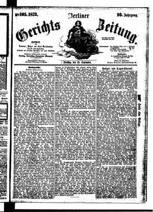 Berliner Gerichts-Zeitung vom 10.09.1872