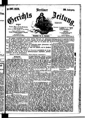 Berliner Gerichts-Zeitung vom 14.09.1872