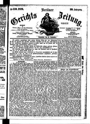 Berliner Gerichts-Zeitung vom 21.09.1872