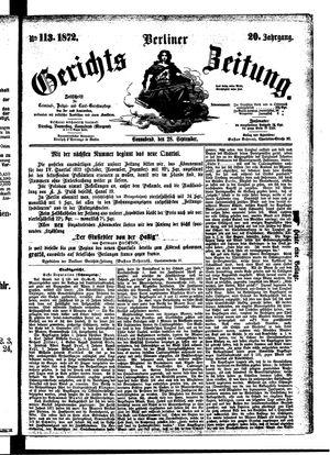 Berliner Gerichts-Zeitung vom 28.09.1872