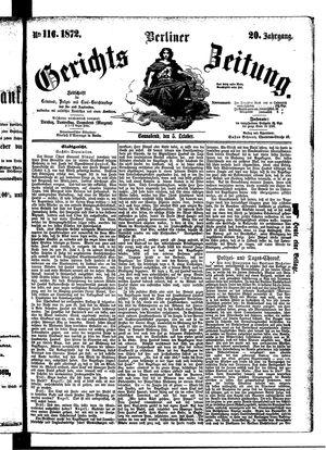 Berliner Gerichts-Zeitung vom 05.10.1872