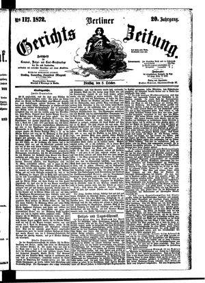 Berliner Gerichts-Zeitung on Oct 8, 1872