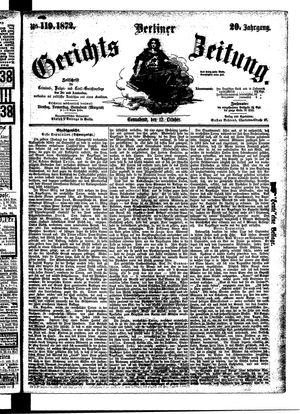 Berliner Gerichts-Zeitung vom 12.10.1872