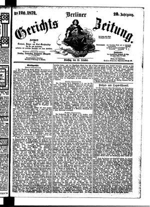 Berliner Gerichts-Zeitung vom 15.10.1872