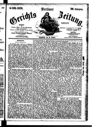 Berliner Gerichts-Zeitung vom 19.10.1872