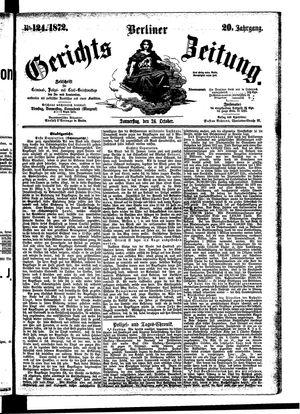 Berliner Gerichts-Zeitung vom 24.10.1872