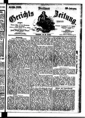Berliner Gerichts-Zeitung vom 26.10.1872