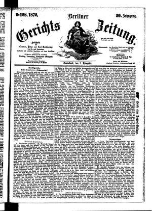 Berliner Gerichts-Zeitung vom 02.11.1872