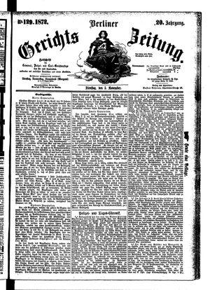 Berliner Gerichts-Zeitung vom 05.11.1872