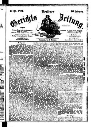 Berliner Gerichts-Zeitung vom 09.11.1872