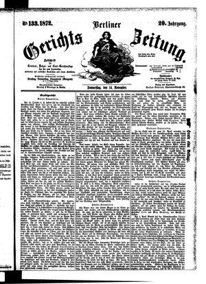 Berliner Gerichts-Zeitung vom 14.11.1872