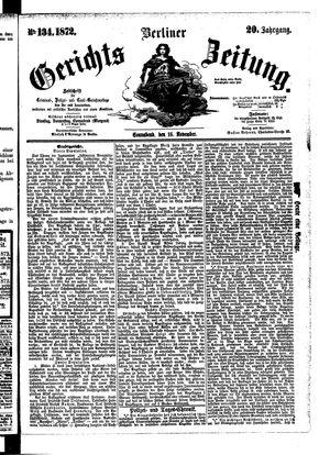 Berliner Gerichts-Zeitung vom 16.11.1872