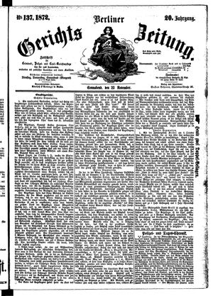 Berliner Gerichts-Zeitung vom 23.11.1872