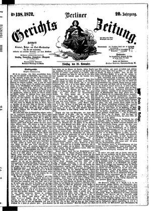 Berliner Gerichts-Zeitung vom 26.11.1872