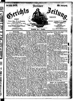 Berliner Gerichts-Zeitung vom 07.12.1872
