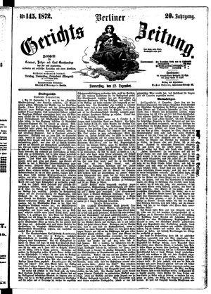 Berliner Gerichts-Zeitung vom 12.12.1872