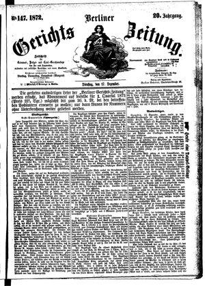 Berliner Gerichts-Zeitung vom 17.12.1872