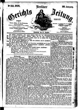 Berliner Gerichts-Zeitung vom 28.12.1872