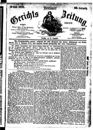 Berliner Gerichts-Zeitung vom 31.12.1872