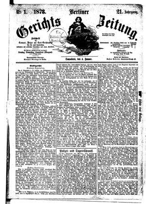 Berliner Gerichts-Zeitung vom 04.01.1873