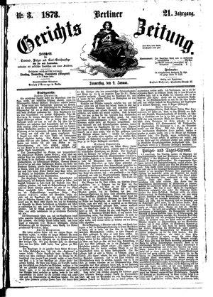 Berliner Gerichts-Zeitung on Jan 9, 1873