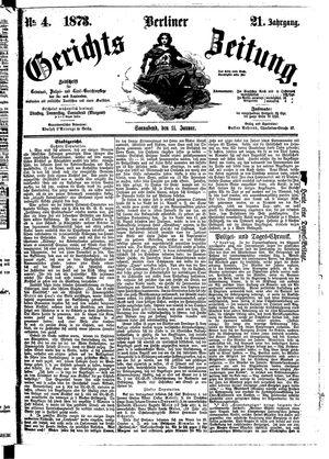 Berliner Gerichts-Zeitung vom 11.01.1873