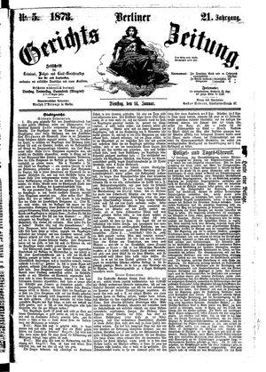 Berliner Gerichts-Zeitung vom 14.01.1873
