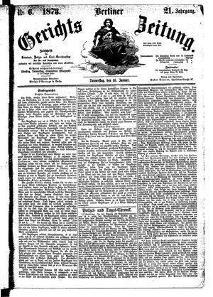 Berliner Gerichts-Zeitung vom 16.01.1873