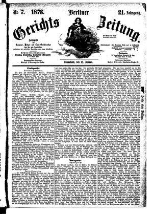 Berliner Gerichts-Zeitung vom 18.01.1873