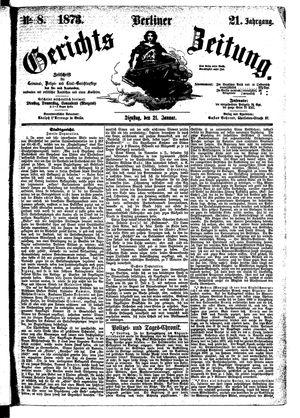 Berliner Gerichts-Zeitung vom 21.01.1873