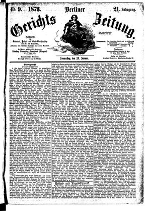 Berliner Gerichts-Zeitung vom 23.01.1873