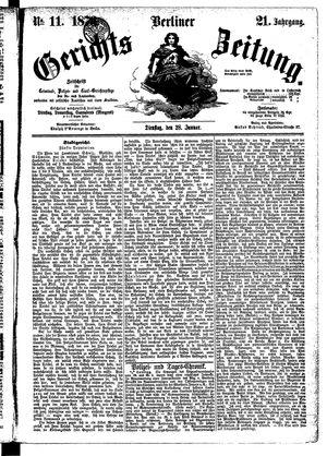Berliner Gerichts-Zeitung vom 28.01.1873