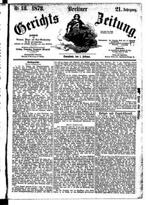 Berliner Gerichts-Zeitung vom 01.02.1873
